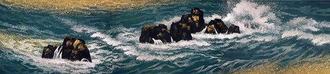 東山魁夷《満ち来る潮》1970(昭和45)年 紙本・彩色 山種美術館