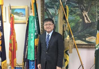「空手の教育効果は絶大」と語る沖縄尚学の名城政一郎副理事長