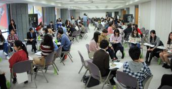 訪日3日目に東京都内で開催された「日中若者討論会」